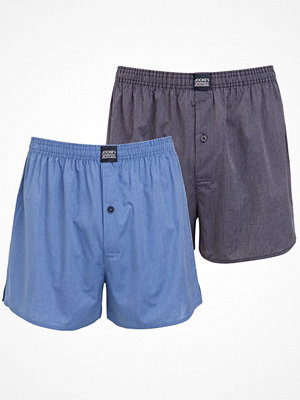 Jockey 2-pack Boxershorts Woven 3XL-6XL Blue/Grey