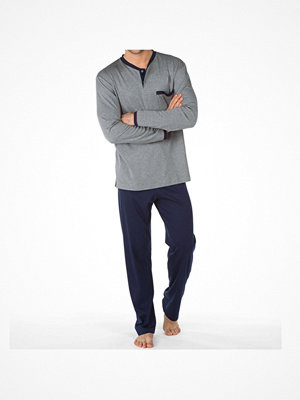Pyjamas & myskläder - Calida Men Östermalm Comfort Fit Pyjama 44168 Grey/Blue