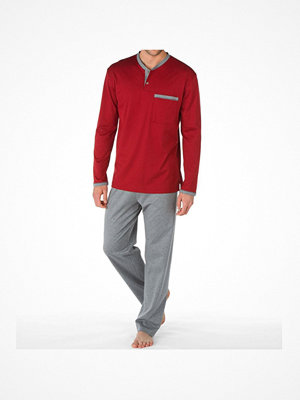 Pyjamas & myskläder - Calida Men Östermalm Comfort Fit Pyjama 44168 Grey/Red