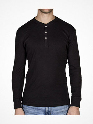 Pyjamas & myskläder - Levi's 300LS Cotton Rib Long Sleeve Black