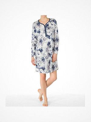 Nattlinnen - Calida Women Sleepshirt Blue/White