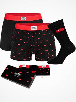 Kalsonger - WESC 3-pack Fang Boxer Briefs and Sock Box Black