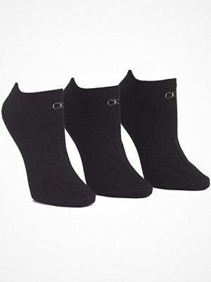 Calvin Klein 3-pack Chloe Cotton CK Logo Liner Socks Black