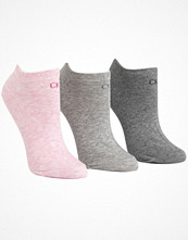 Calvin Klein 3-pack Chloe Cotton CK Logo Liner Socks Pink/Grey