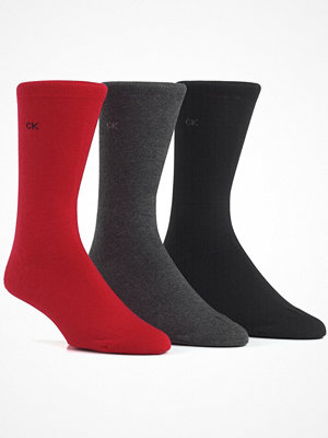 Calvin Klein 3-pack Cotton Sock Red