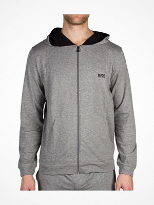 Pyjamas & myskläder - Hugo Boss Mix and Match Jacket Hooded Grey