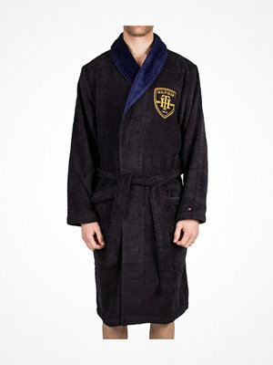 Morgonrockar - Tommy Hilfiger Cotton Terry Bathrobe  Blue