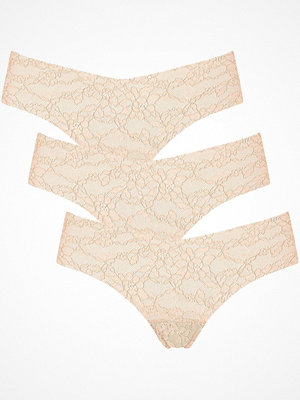Sloggi 3-pack Light Lace 2.0 Brazil Panty Beige
