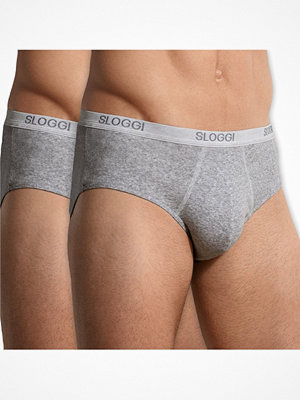 Sloggi 2-pack For Men Basic Midi Grey