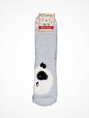 Strumpor - PJ Salvage Fun Socks Panda Light grey