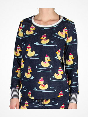 Pyjamas & myskläder - PJ Salvage Pj Salvage Winter Ducks Long Sleeve Top Navy pattern