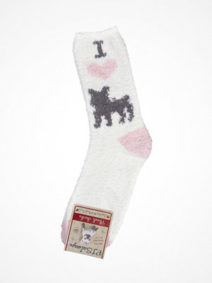Strumpor - PJ Salvage Fun Socks Frenchie White Pattern