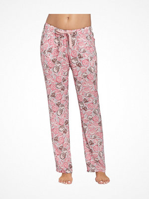 Pyjamas & myskläder - Triumph Mix and Match Trousers Viscose Pink Pattern