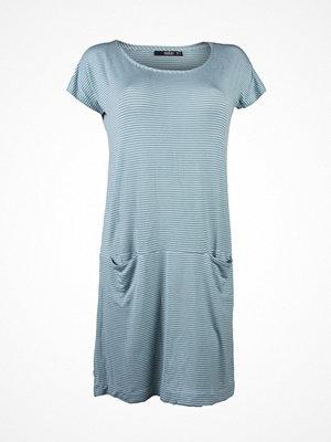 Nattlinnen - Femilet Reese Big Shirt  Green Striped