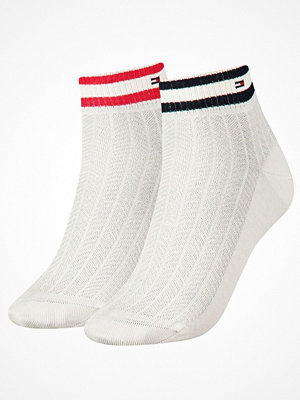 Strumpor - Tommy Hilfiger 2-pack Women Classy Sports Short Sock White