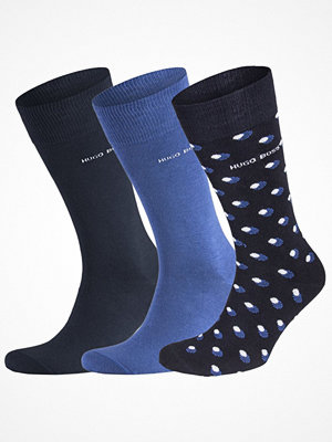 Strumpor - Hugo Boss 3-pack Design Ribbed Socks Giftset Black/Blue