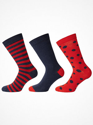 Strumpor - WESC 3-pack Stanie Multi Pattern Socks Navy/Red