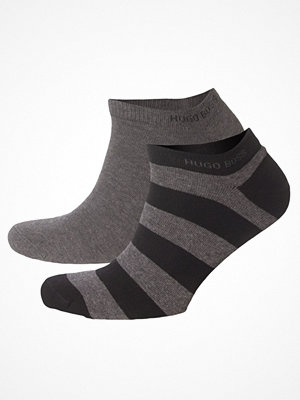 Strumpor - Hugo Boss 2-pack Design Ankle Socks Greystriped