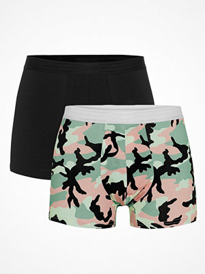Kalsonger - WESC 2-pack Stan Camo Boxer Brief Black pattern-2