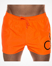 Badkläder - Calvin Klein Core Neon Short Runner Drawstring Orange