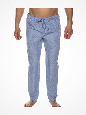 Pyjamas & myskläder - Hanro Night And Day Long Pant Blue Pattern
