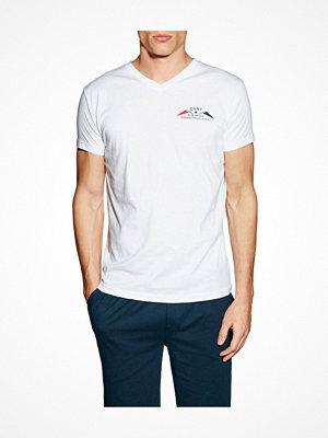 Pyjamas & myskläder - Gant V-neck T-shirt Small Print White