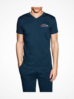 Pyjamas & myskläder - Gant V-neck T-shirt Small Print Navy-2