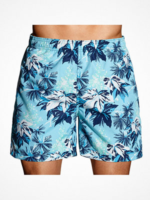 Gant Tropical Foliage Swim Shorts Blue Pattern