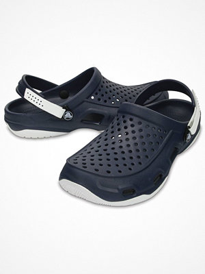 Tofflor - Crocs Swiftwater Deck Clog M White/Navy
