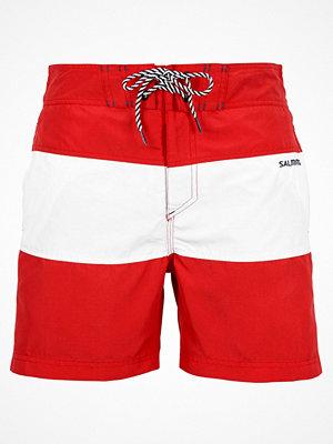Badkläder - Salming David Long Swim Shorts Red