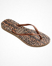 Havaianas Slim Animal Brown pattern