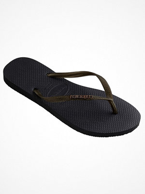 Havaianas Slim Logo Metallic Black/Gold-2