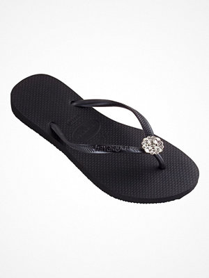 Tofflor - Havaianas Slim Crystal Poem Black