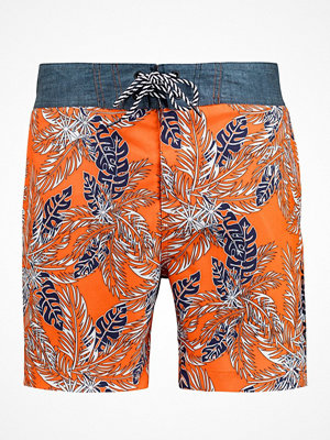 Badkläder - Salming Luis Swim Boardshorts Orange