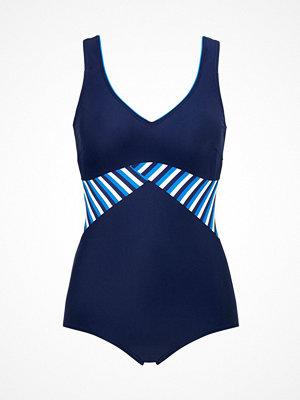 Baddräkter - Abecita Holiday Swimsuit Blue/White