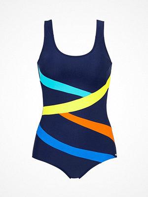 Baddräkter - Abecita Twist Swimsuit Navy-2