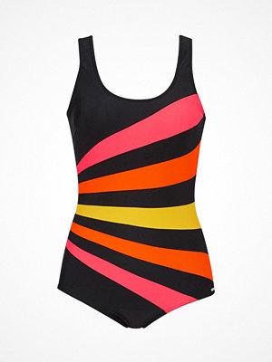 Abecita Action Swimsuit  Black/Orange