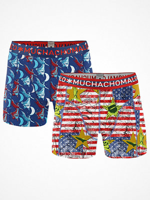 Kalsonger - Muchachomalo 2-pack Sinatra Boxer Blue/Red