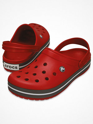 Tofflor - Crocs Crocband Unisex Red/Grey