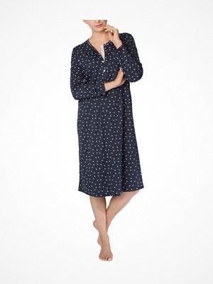 Nattlinnen - Calida Deborah Nightdress Blue Pattern