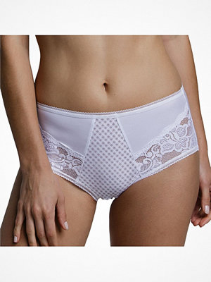 Miss Mary of Sweden Miss Mary Elastic Lace Maxi Brief White
