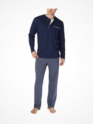 Pyjamas & myskläder - Calida Men Jeremy Pyjama Darkblue