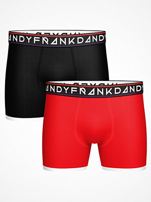 Frank Dandy 2-pack St Paul Bamboo Boxer Black/Red