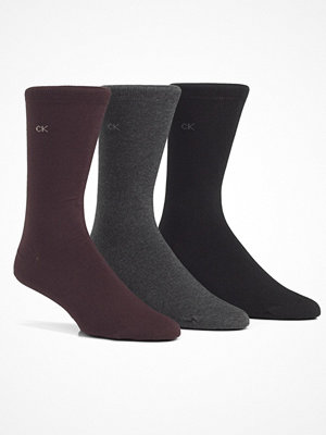 Calvin Klein 3-pack Eric Cotton Flat Knit Socks Black/Grey