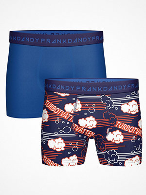 Frank Dandy 2-pack Turbo Boxers Blue Pattern