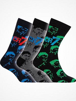 CR7 Cristiano Ronaldo 3-pack Boys Socks Blue/Grey