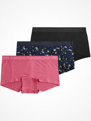 Björn Borg 3-pack Essentials Paper Flower Mini Shorts Multi-colour