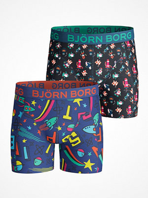 Björn Borg 2-pack Lost And Robo Shorts For Boys Blue Pattern