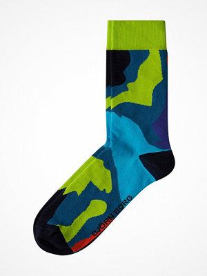 Strumpor - Björn Borg Block Socks Blue Pattern