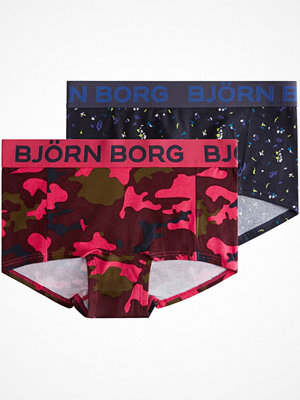 Björn Borg 2-pack Camo and Paper Flower Mini Shorts Pink/Blue